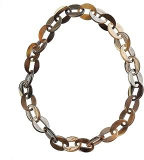Womens Handmade Buffalo Horn Fashion Long Chain Necklaces