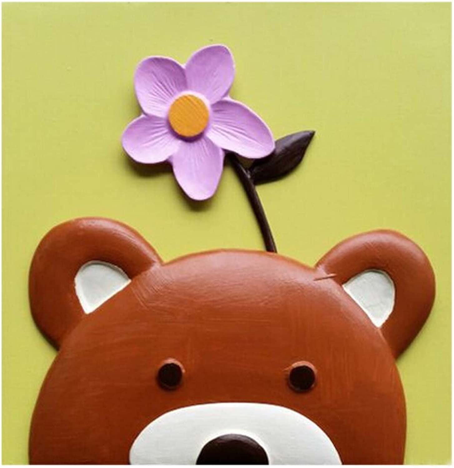 [Bear&Flower] 3D PaintByNumber Kits DIY Painting Crafts for Kids Over 5Y