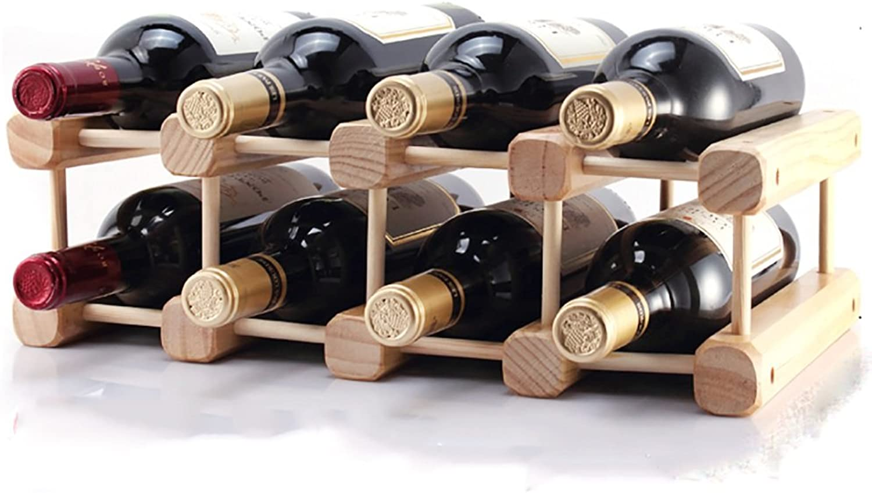 QFFL jiujia Wine Rack Wooden Red Wine Rack DIY Combination Home Wine Rack Decoration (Size   42  26  18CM)