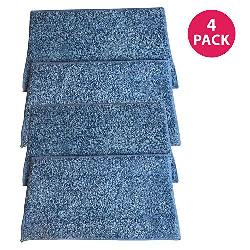 Crucial Vacuum Replacement Mop Pads Compatible with Haan Part # RMF2,RMF2P,RMF2X,RMF4,RMF4X & Models MS30,MS30, MS30R, MS35, SI25, SI35, SI35G, SI35R, SI35BCRF, SI38, SI40, SI45Q, SI46, SI60 (4 Pack)
