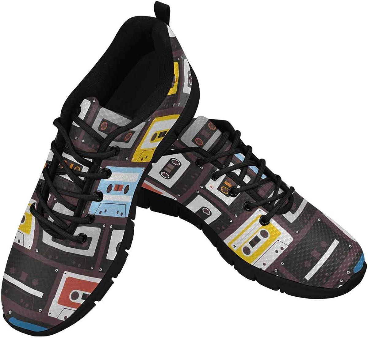 InterestPrint Vintage Audio Cassettes Women's Walking Shoes Lightweight Casual Running Sneakers