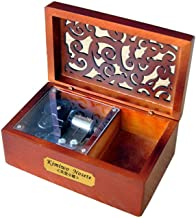 YouTang Creative Hollow Wood 18-Note Wind-up Musical Box,Musical Toys,Tune:Swan Lake