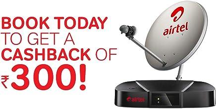 Airtel Digital TV HD Set Top Box with 1 Month Value Lite HD Pack & 300 Cash Back