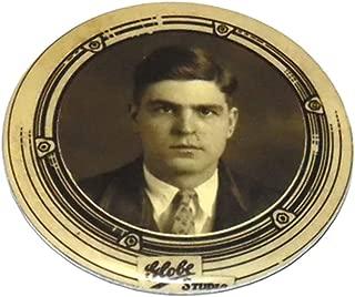 Vintage Globe Studios Celluloid Portrait Photograph Advertising Pocket Mirror