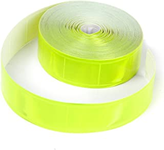WINOMO Sew on Gloss Reflective Tape Strip with High Visibility 33ft Yellow Fluorescent