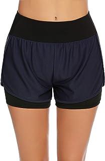 COOrun 2-in-1 shorts voor dames, loopshorts, sport, gym, fitness, korte broek, joggingbroek