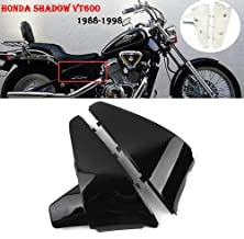 Motorcycles Black ABS Battery Side Fairing Cover for Honda Shadow VT600 VLX 600 STEED400 1988 1989 1990 1991 1992 1993 1994 1995 1996 1997 1998