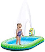 yester - Alfombra de pulverización para niños, piscina de riego hinchable, piscina, paisaje ecológico de parque acuático de esquina redondo de bordes lisos para niños