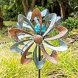 Primrose Windrad / Windspiel 'Bluebird' mit Solarleuchte, Garten 145cm