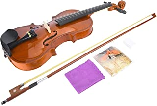 Bnineteenteam 4/4 Hand-Made Acoustic Violin with Bow Rosin String Musical Instrument Accessories