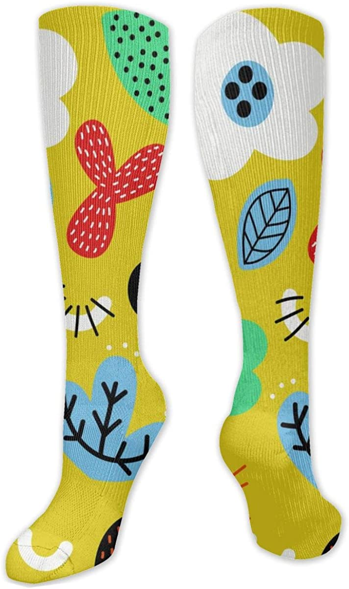 Cartoon Plants Knee High Socks Leg Warmer Dresses Long Boot Stockings For Womens Cosplay Daily Wear