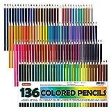 Shuttle Art 136 Colored Pencils, Soft Core Coloring Pencils Set for Adult Coloring Books, Doodl…