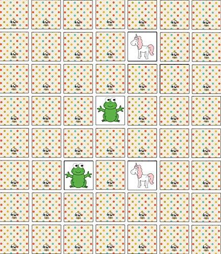 the lazy panda card company 120 Stück Memory Spiel Legekarten Blanko/Polka zum Selbstgestalten - 6 x 6 cm - für Kinder , Enkelkinder und Erwachsene , Selber Malen Basteln und Tuschen