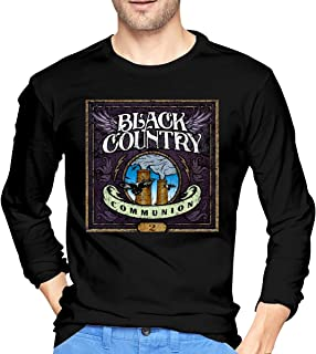 Men Shirts Graphic with Black Country Communion Cotton Long Sleeve Tee
