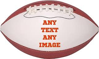 Personalized Custom Photo Mini Football - Any Image - Any Text - Any Logo