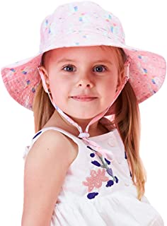 Vivobiniya Baby Sun Hats Kids 2.75in Big fold-up Brim Bucket Hats upf50+UV