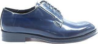 GUARDIANI GU74305 Stringate Blu Lucide Scarpe in Pelle Cuoio