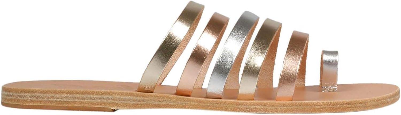 ANCIENT GREEK SANDALS Women's NIKIPINKMETALSILVER gold Leather Sandals