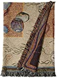 Simply Home Seashell Collection Tapestry Throw Blanket