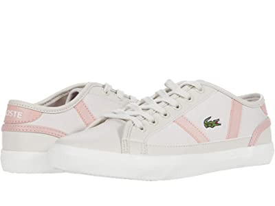 Lacoste Kids Sideline 0120 1 CUJ (Little Kid/Big Kid) (Off-White/Light Pink) Kid