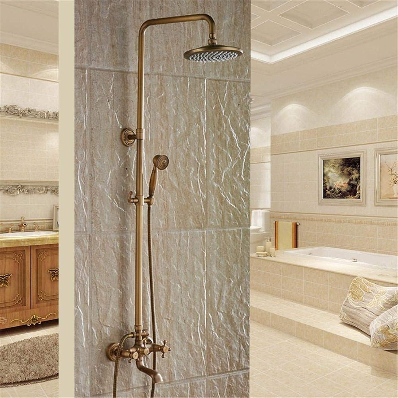 Whgz Das Neue antike messingfarbene Badezimmer mit Regendusche und strapazierfhigem Messingarmaturenanzug