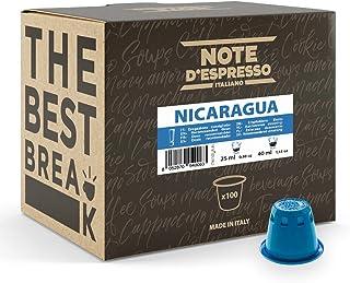 Note d'Espresso - Nicaragua - Capsules de Café - Exclusivement Compatible avec Machine NESPRESSO* - 100 x 5,6 g