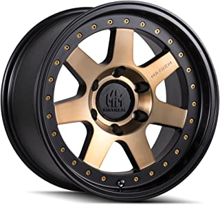 MAYHEM PRODIGY (8300) MATTE BLACK W/BRONZE TINT: 17x9 Wheel Size; 5-127 Lug Pattern, 78.1mm Bore, 6mm Offset.