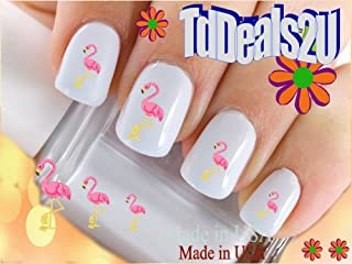 Animals - Flamingos - I Love Pink Flamingos Nail Decals - WaterSlide Nail Art Decals - Highest Quality! Made in USA
