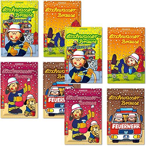 8 Tüten * FEUERWEHR BRAUSE * ┃ Mitgebsel Kindergeburtstag ┃ Süßigkeiten mit 4 Geschmäcker ┃ Hersteller aus Deutschland ┃ Kinder lieben diese Brause