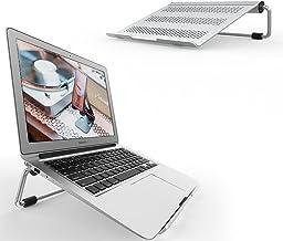 パソコンスタンド, Lomicall ラップトップ卓上スタンド : ノートPC台, 折り畳み式, アルミ合金製, 熱対策, 安定性抜群, エルゴノミクス机上台, 人間工学, 猫背・肩こり改善, aluminium, 11~17インチのパソコンに対応,アップル マックブック エア プロ, Apple MacBook Air Pro 11 13 15, Microsoft Surface, Google Pixelbook, Dell XPS, HP, ASUS, Lenovoなどに対応