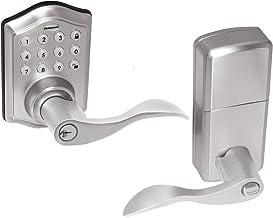 Honeywell Safes & Door Locks - 8734301 Maçaneta de entrada eletrônica, níquel acetinado