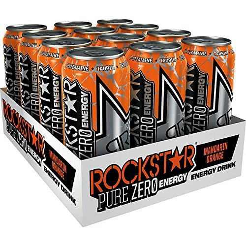 12 Dosen Rockstar Revolt Killer mandarin orange a 500ml inc.3.00€ EINWEG Pfand Neu