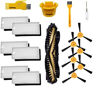 aoteng Accessories Kit for Ecovacs Deebot N79 N79S DN620 DN621 DN622 Robot Vacuum Cleaner Replacement Parts Pack of Main Brush, Hepa Filter, Side Brush