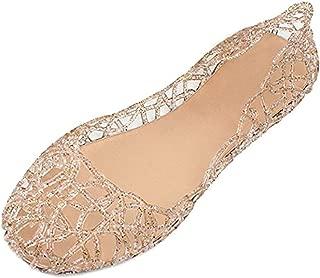 Jelly Ballet Flat Shoes Summer Women's Slip On Jelly Sandals