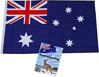 MJB Inspired Australian Flag. Robust Full Size 3 ft X 5 ft Polyester National Flag is Suitable for Indoor or Outdoor use. ...