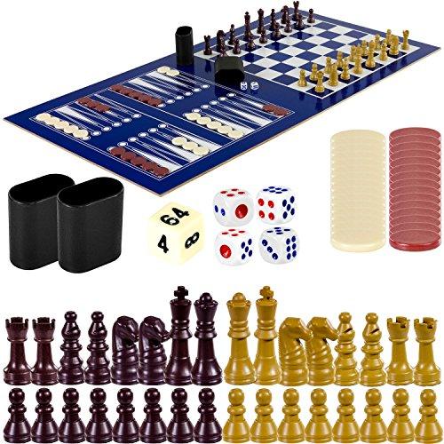 Maxstore Multigame Spieletisch Mega 15 in 1, inkl. komplettem Zubehör, Spieltisch mit Kickertisch, Billardtisch, Tischtennis, Speed Hockey uvm. in schwarzem Holzdekor - 5