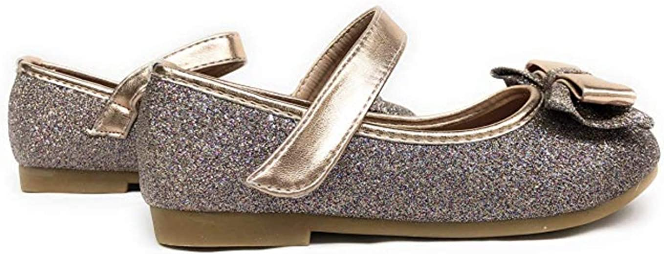 NWT gold sparkle dressy shoes GIRLS us size toddler 13