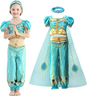 Tutu Dreams Girls Jasmine Role Play Costumes Fancy Peacock Princess Dress Birthday Halloween Party