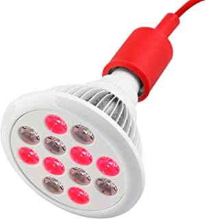 SGROW 24W Red Led Light Red 660nm and Near Infrared 850nm Led Light Therapy Bulbs for Skin and Pain Relief
