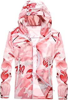 Hooded Sun Protection Tops Camouflage UPF 50+ Women's Outdoor Performance Workout Shirt