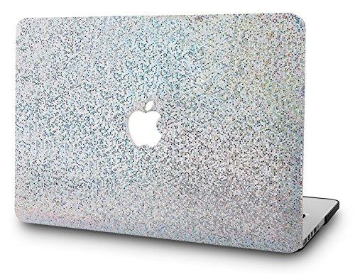 "KECC Laptop Case for Old MacBook Pro 13"" Retina (-2015) Plastic Hard Shell Cover A1502 / A1425 (Silver Gliter)"