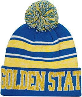 Golden State Men's Blended Stripe Winter Knit Pom Beanie Hat