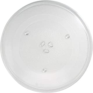 WB49X10063 Microwave Glass Turntable Plate Replacement for General Electric JVM7195SF1SS - Compatible with WB49X10063 14 1/8 Inch Glass Tray