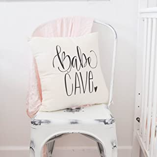 Boho Nursery, Babe Cave, Girls Room, Woman Cave, Nursery Pillow Cover, 16 x 16, Handwritten, Makeup Room, Woman Cave, Craft Room, Ladies