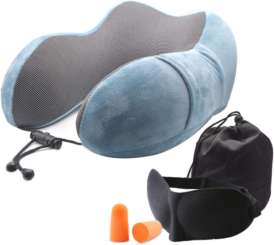 Fastwolf Travel Pillow security 100% Pure Adjust Over item handling ☆ Foam Neck Memory