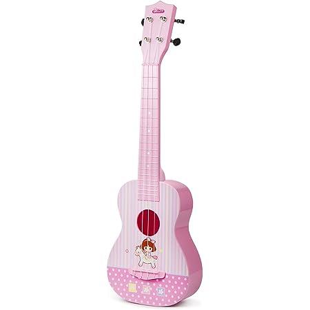 ASTOTSELL Enfants Guitare Jouet Musical Instrument Ukulélé, Enfants Jouet Guitare 4 Cordes Rime Développement Instrument de Musique Jouet Éducatif pour Les Tout-Petits Garçons et Filles (Rose)