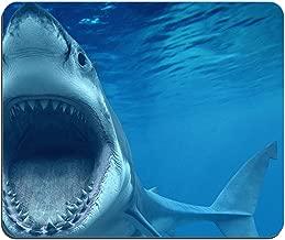 وسادة ماوس رائعة باللون الأبيض على شكل سمك القرش (وسادة ماوس من Fish Mouse Pad)