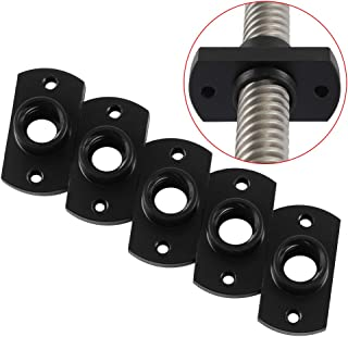 FYSETC 3D Printer Upgrade Parts T8 POM Nylon Trapezoidal Screw Nut 2mm Pitch 8mm Lead for Ender 3/ Pro CR10 CR10S Z Axis 5pcs