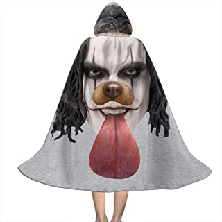 Crow Brandon Lee Dog Snapchat Filter Unisex Kids Hooded Cloak Cape Halloween Party Decoration Role Cosplay Costumes Outwear Black