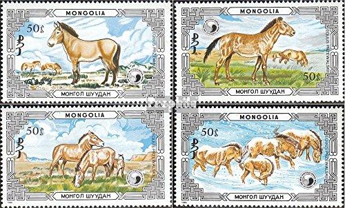 Prophila Collection Mongolei 1819-1822 (kompl.Ausg.) 1986 Geschützte Tiere: Wildpferde (Briefmarken für Sammler) Pferde